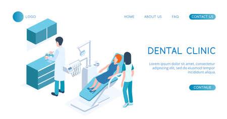 Modern Dental concept Clinic vector isometric illustration. Standard-Bild - 137235519