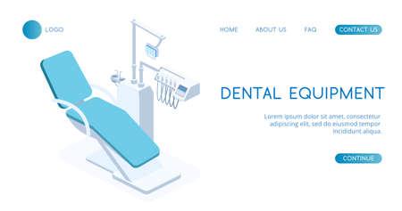 Modern Dental Equipment concept vector isometric illustration.
