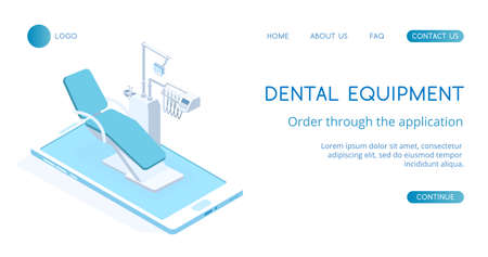 Modern Dental Equipment concept vector isometric illustration. Standard-Bild - 137235527