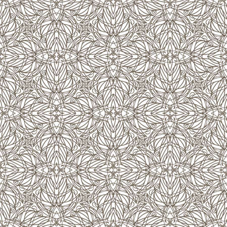 Vector seamless pattern, delicate decorative background. Ornamental intricate design.