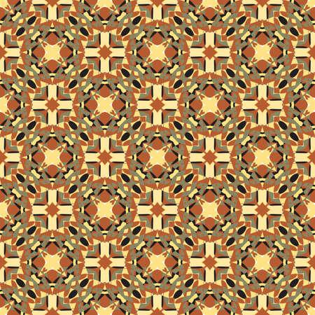 Sier geometrische naadloze patroon. Vector abstracte textuur als achtergrond. Retro stijl. Vintage tegels herhalen. Stock Illustratie