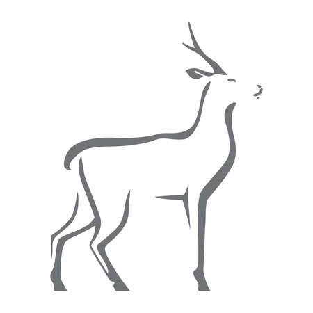 Roe deer image illustration. Stock Illustratie