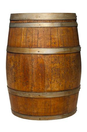 Oak Barrel on white