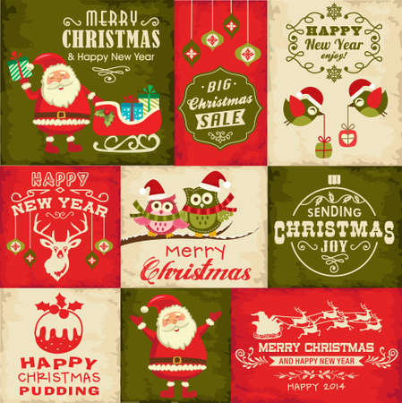 Vector set of Christmas symbols.