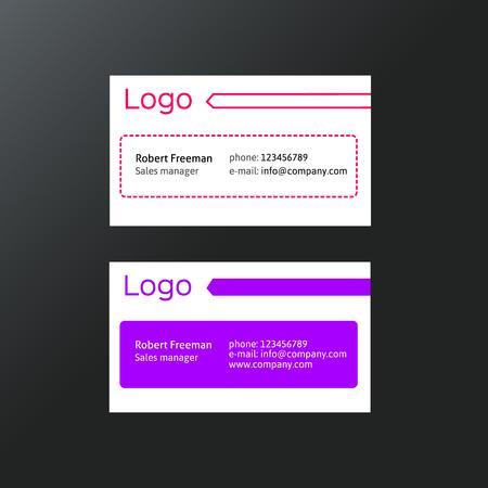 modern business: Modern business card template Illustration