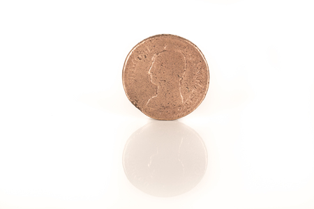 numismatic: gold coin with Napoleon, old french currency