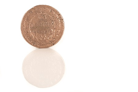 napoleon: gold coin with Napoleon, old french currency