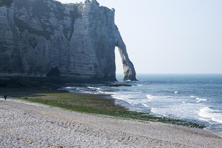 sea cliff: Ocean sea cliff, rocks and blue ocean.  Europe Asia