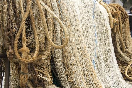 ネット機器漁船フランスのクローズ アップ