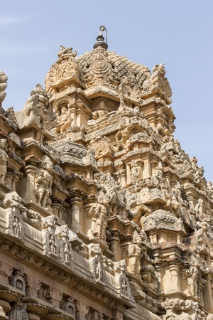 tamil nadu: Tanjore temple in Tamil Nadu India building Stock Photo