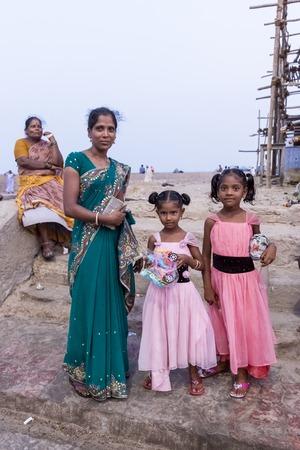 a bathing place: Rameswaram, Tamil Nadu, India - May 25, 2014. Full report about Rameswaram pilgrimage, religion Religious city rituals