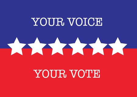 米国の選挙投票星ブルー レッド ホワイト  イラスト・ベクター素材