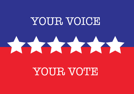 US election Vote stars blue red white