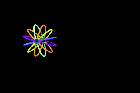 glow stick: Glow sticks neon light fluorescent on back background. variation of different colored chem lights like a ball