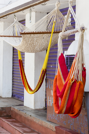 colorful hammocks for sale outdoor in india  concept of vacations holidays colorful hammocks stock photos  royalty free business images  rh   123rf