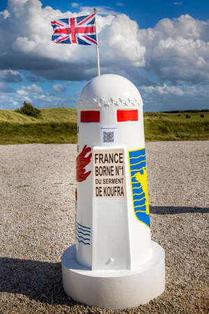 ST. MARTIN DE VARREVILLE, NORMANDY, FRANCE - SEPTEMBER Circa, 2020. D-Day WWII Monument commemorate the French landing of General Leclerc at Utah beach. Terminal 1 Éditoriale
