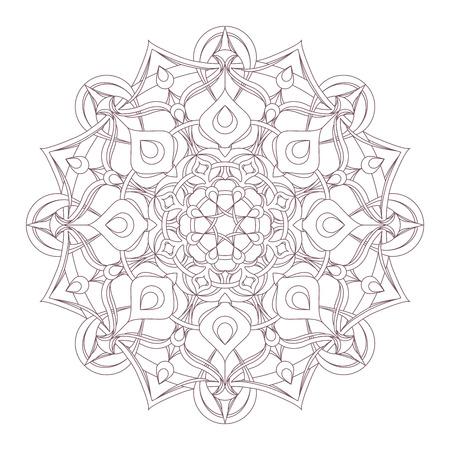 Disegno circolare intricato mandala per la colorazione