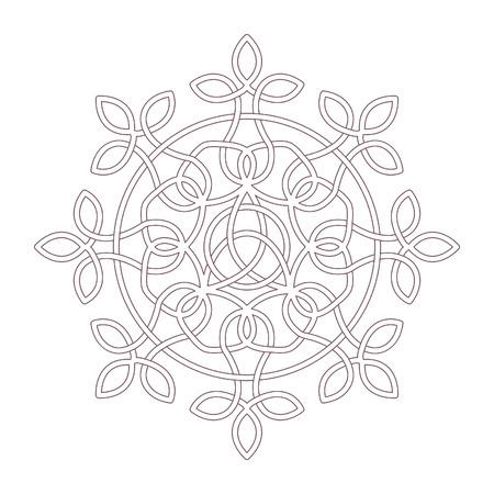 Mandala circolare con motivo celtico progettato per la colorazione Vettoriali