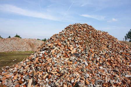 Construction garbage Stock Photo