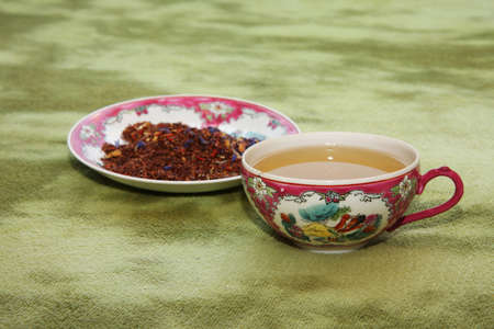 Chinese tea in Chinese cup Stock Photo