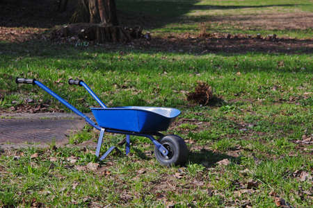 Hand-barrow in grass Stock Photo