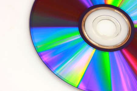 Closeup of DVD on white background Stock Photo - 8957404