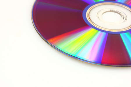 Closeup of DVD on white background Stock Photo