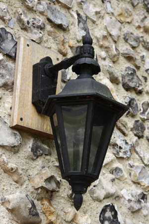 Typical English street lamp Stock Photo