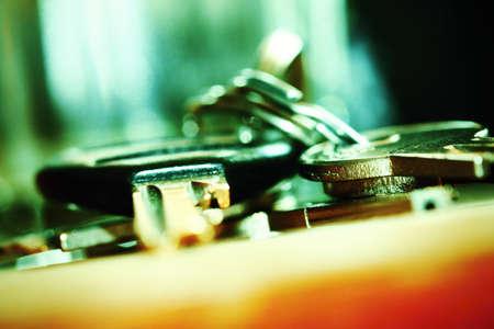 Closeup of keys Stock Photo