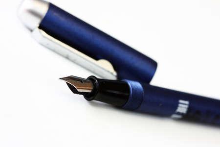 Closeup of fountain pen Stock Photo