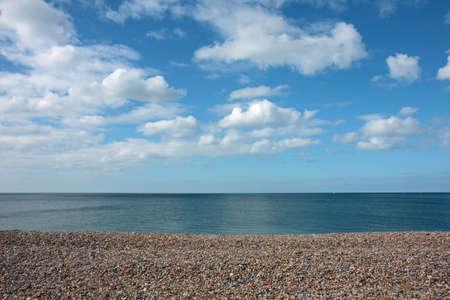 Pebble beach in summer Stock Photo