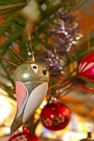 Christmas ornament shaped as bird