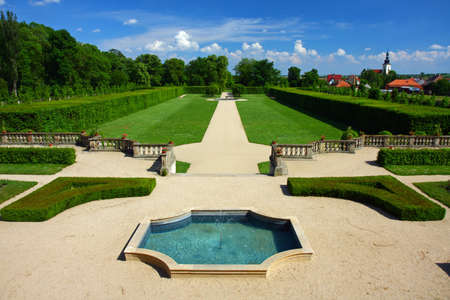 Fountain in an English-French garden
