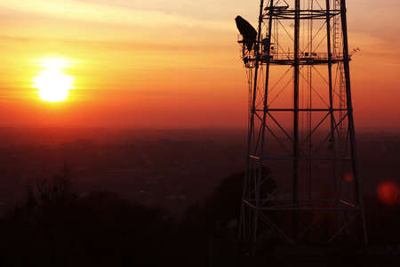 TV tower in sunset