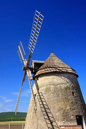 Traditional windmill of Dutch type Stock Photo