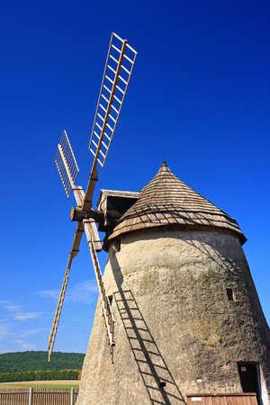 traditional windmill: Traditional windmill of Dutch type Stock Photo