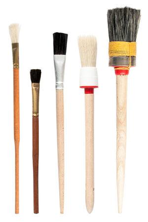 paint brush: Paint brushes isolated on the white background, set