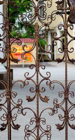iron fence: gate
