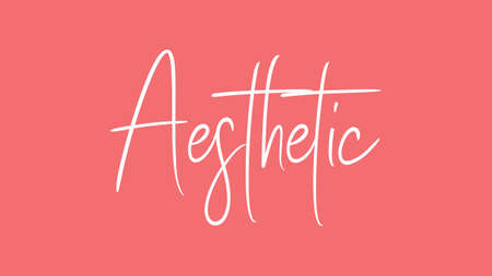Aesthetic, Calligraphy signature font, girly pinky background,
