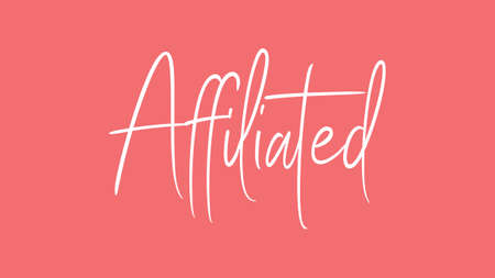 Affiliated, Calligraphy signature font, girly pinky background, Quote Concept 版權商用圖片