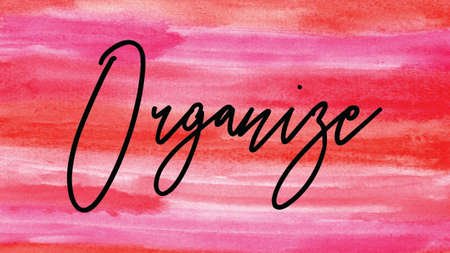 Organize Word on Watercolor Background, Watercolor background Concept Design