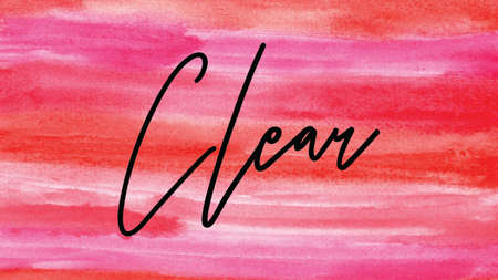 Clear Word on Watercolor Background, Watercolor background Concept Design