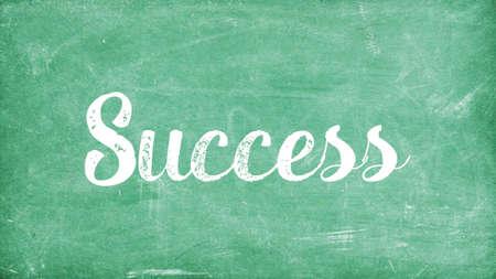 Success Word Concept, Blackboard Chalk background Concept Design