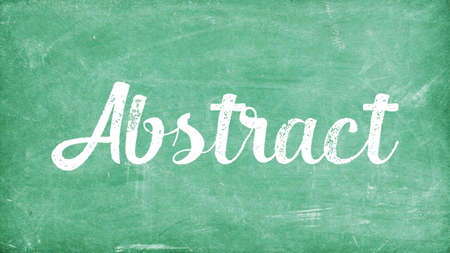 Abstract Word Concept, Blackboard Chalk background Concept Design
