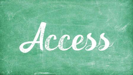 Access Word Concept, Blackboard Chalk background Concept Design