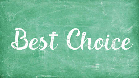 Best Choice Word Concept, Blackboard Chalk background Concept Design 스톡 콘텐츠