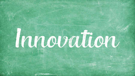 Innovation Word Concept, Blackboard Chalk background Concept Design