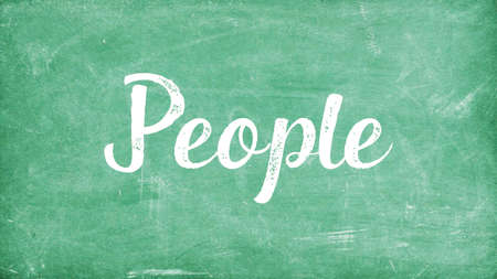 People Word Concept, Blackboard Chalk background Concept Design Stock Photo