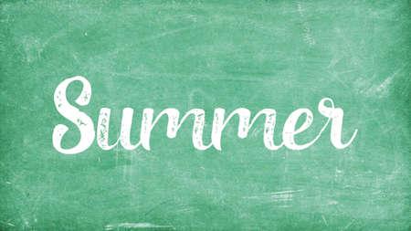 Summer Word Concept, Blackboard Chalk background Concept Design