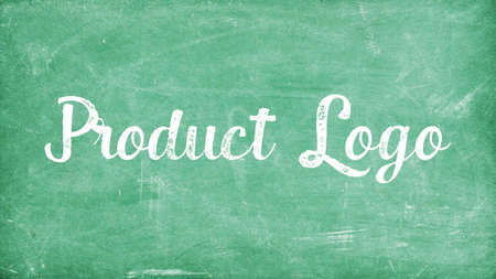 Product Logo Word Concept, Blackboard Chalk background Concept Design Stock Photo